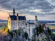 德国森林城堡建筑艺术风景图片
