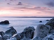 地平线上绝美山川湖畔风景壁纸