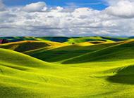 绿色养眼高清山脉风景壁纸
