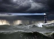 唯美意境海岛灯塔风景壁纸