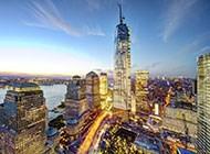 美丽的帝国大厦航拍图片