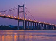 虎门大桥夕阳黄昏唯美图