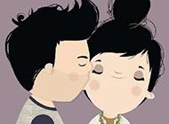 情侣甜蜜亲吻图片卡通动漫