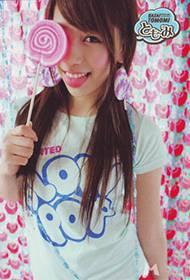 日本女星河西智美棒棒糖可爱个性写真
