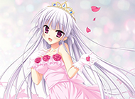 与花共舞的唯美梦幻动漫女孩图片
