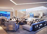 公寓客厅装修设计图时尚大气
