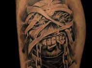 欧美个性另类骷髅纹身图案