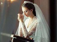纯白婚纱唯美清新风格图片