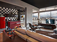 现代美式二居室装修效果图时尚个性
