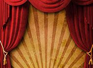 红色炫酷幕布背景图片素材