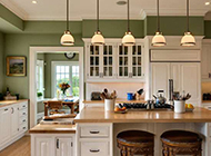 小户型开放式厨房吧台装修效果图实用美观