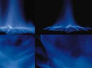 蓝色烟雾特效ppt背景图片