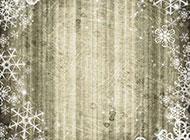 精美雪花木板背景图片素材