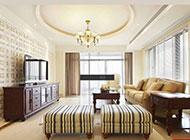 简欧别墅复式客厅装修设计效果图