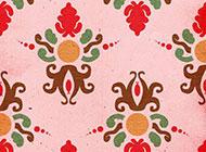 色彩鲜艳的花纹高清图片