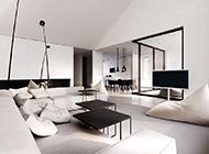 低调现代时尚复式公寓装修效果图