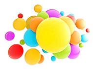 微信朋友圈质感圆球背景图片