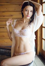 美胸女神樱桃透明蕾丝内衣性感大片