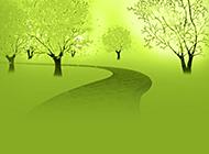 绿色环保幻灯片背景图片