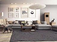 20款时尚奢华现代感起居室效果图