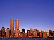 超清电脑壁纸纽约世贸双塔城市风光赏析