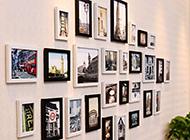 创意办公室相片墙效果图