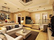 复式客厅简欧式温馨装修效果图