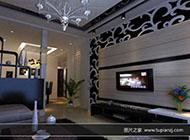 时尚美观的客厅电视背景墙图片