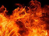 黑色炙热火焰精美背景图片