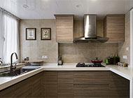 现代风格家庭装修厨房橱柜效果图