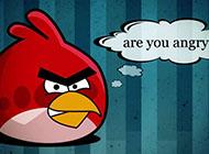 经典游戏愤怒的小鸟可爱高清大图