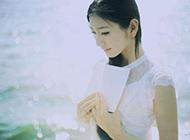 白裙少女海边唯美清新文艺范写真