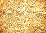 金色浮雕花纹背景高清图片素材