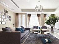 小户型客厅英伦装修实景图简单大方