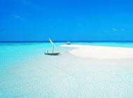 微软的蓝色纯净海滩背景图片