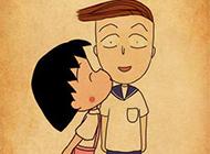 樱桃小丸子可爱卡通背景素材