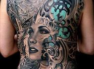背部美女纹身图案大全