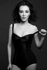 女明星刘雨鑫熟女诱惑黑白写真