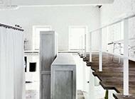 纯白色大空间时尚别墅装修设计展