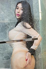 尤果网嫩模李丁丁浴室大胆写真照