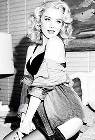 艾梅柏·希尔德写真图片 模仿玛丽莲梦露