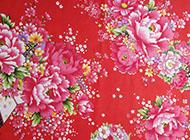 牡丹花纹背景图片红色喜庆