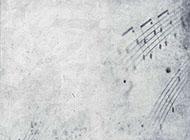 音符陈旧复古ppt背景图竖版
