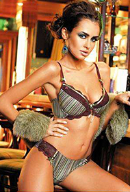 欧美内衣模特性感写真秀完美身躯