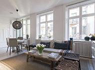 温馨透明隔断单身公寓装饰设计图