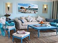 家居客厅地中海混搭装修效果图