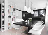 黑白创意线条精简风格公寓