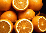 美味橙子清新夏日水果精选图片