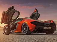橙色的迈凯轮P1超跑高清大图