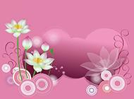 简单精美的粉色莲花背景图片